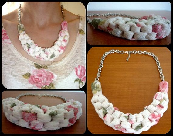 Handmade Straightknot Fabric Necklace DIY