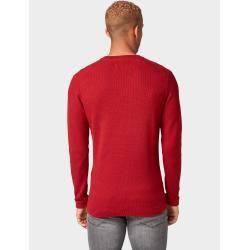 Photo of Tom Tailor Denim Herren strukturierter Strickpullover, rot, schlicht, Größe L Tom TailorTom Tailor