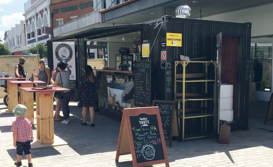 Food And Wine Festival Pop Up Cafe Created From A Shipping