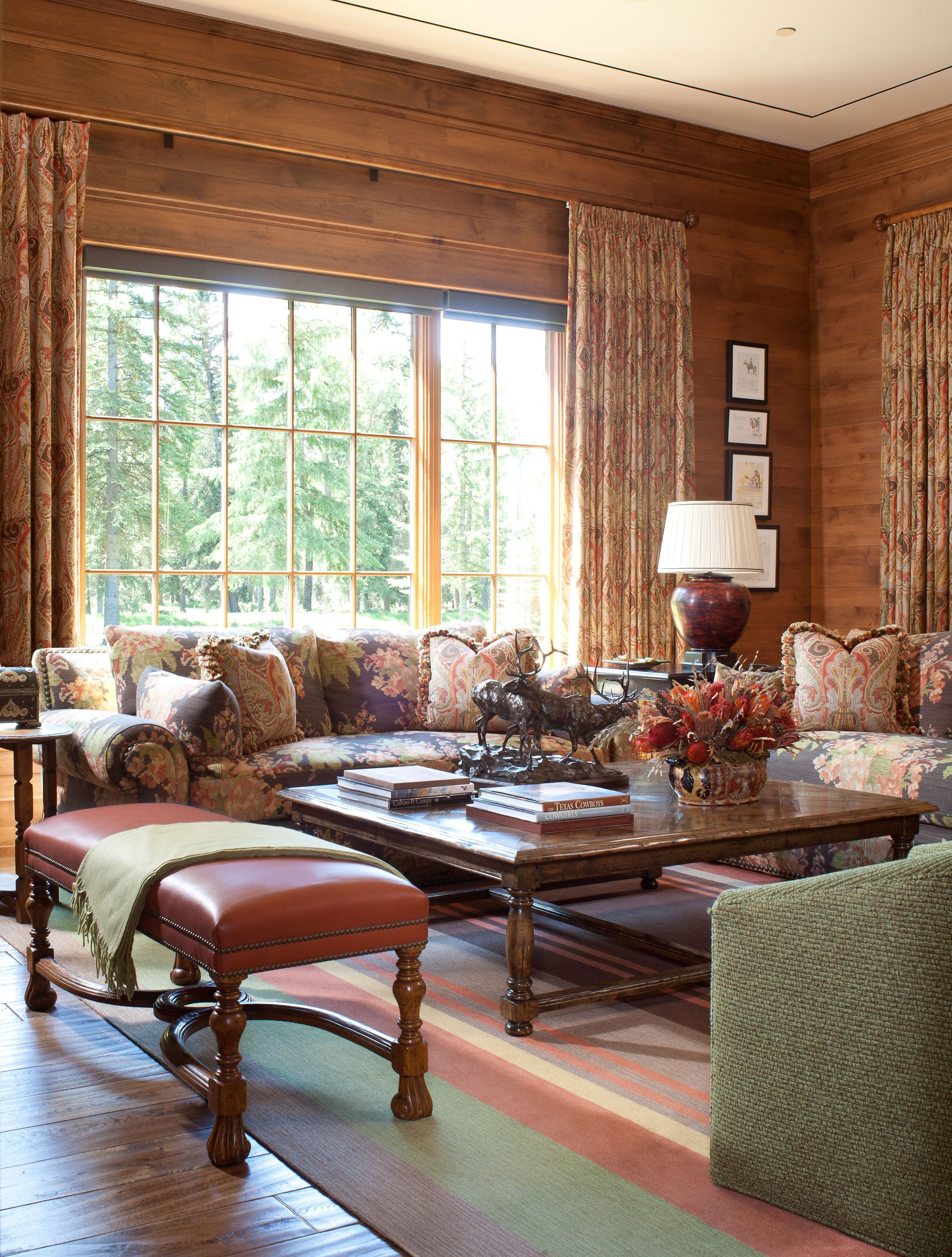 Paneled Family Room: Country Paneled Sitting Room.