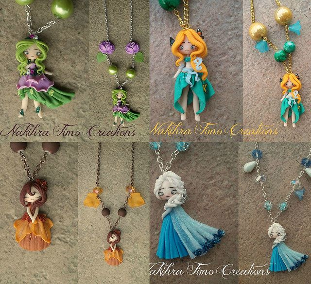 The Four Seasons Polymer Clay by Nakihra Fimo Creations, via Flickr