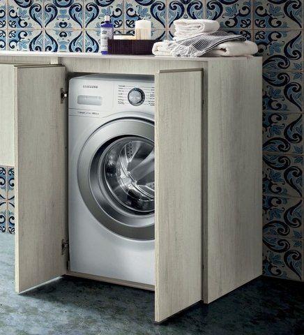 Mobili Per Lavatrici Ad Incasso.Mobile Bagno Copri Lavatrice In 30 Colori Porta Lavatrice Amazon