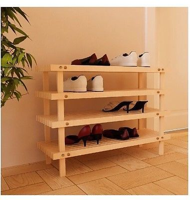 Wood-46-Tier-Shoe-Rack-Home-Storage-Shelf-Entryway-Furniture-Closet ...
