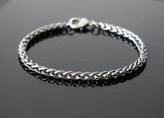 Mens Bracelet Mens Silver Bracelets Bracelet Men Men Chain Etsy Mens Bracelet Silver Bracelets For Men Mens Bracelet