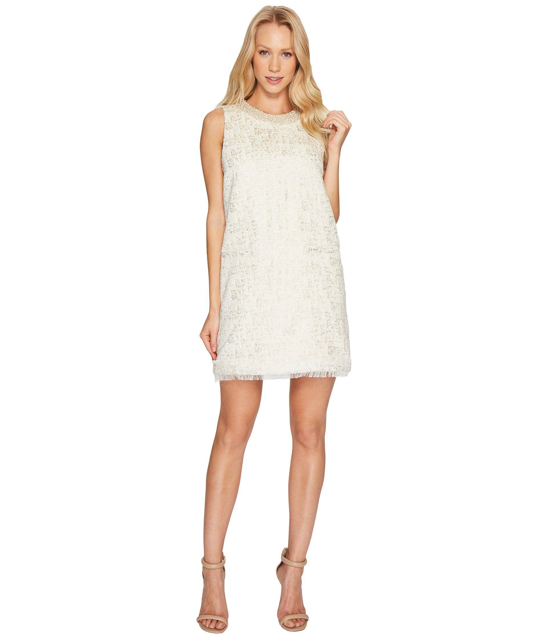 RACHEL ZOE Metallic Boucle Spencer Dress. #rachelzoe #cloth ...