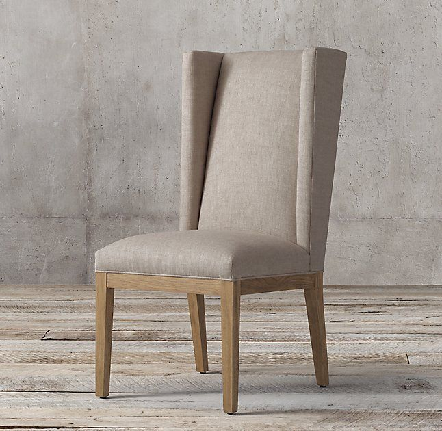 Stewart Fabric Side Chair Restoration Hardware Fabric Armchairs Furniture Design Wooden Chair