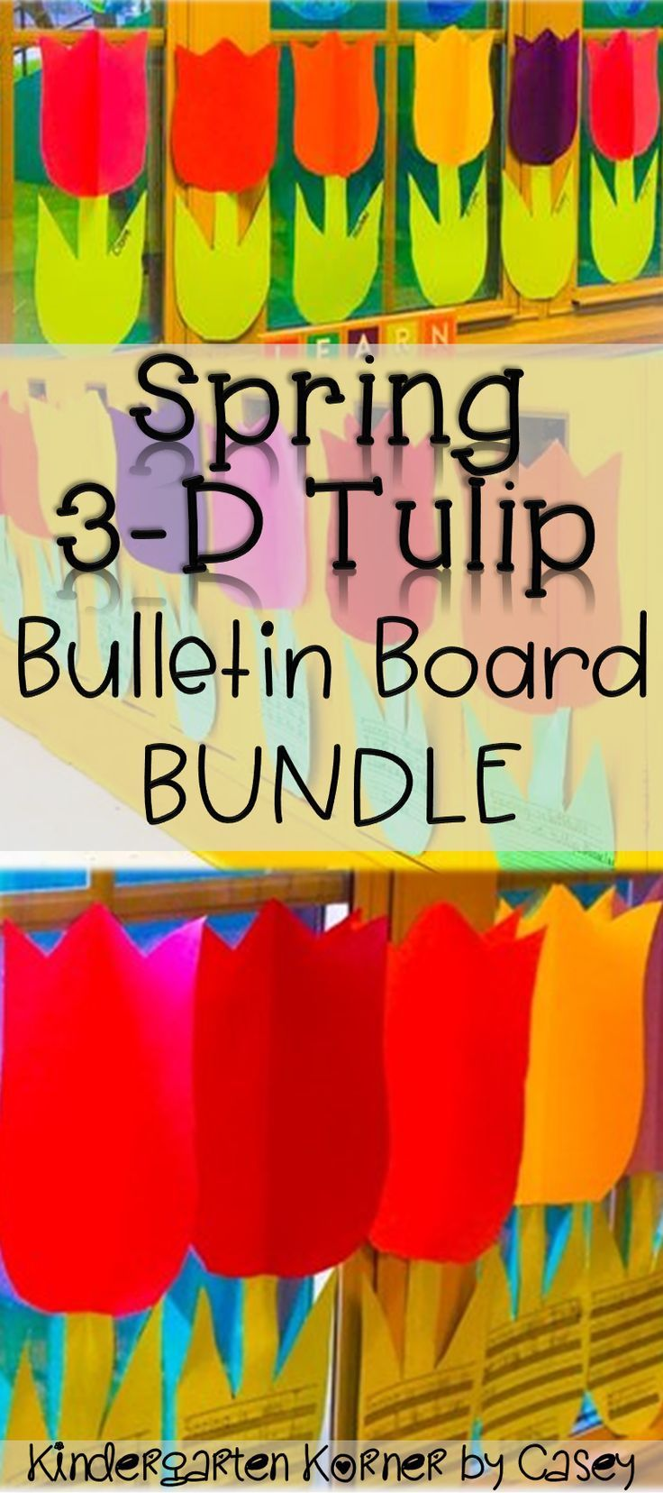 Spring D Tulips Flowers Bulletin Board Set Writing Craft Motherus