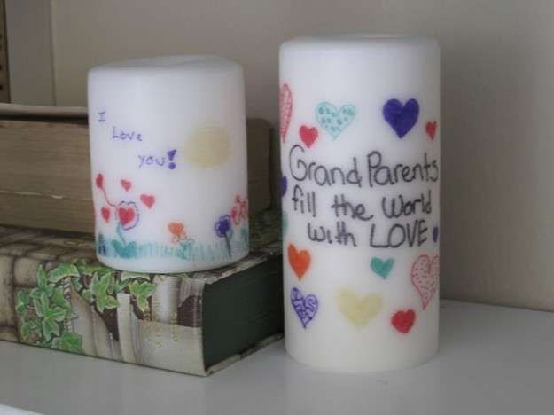 manualidades con velas ideas para hacer con nios velas decoradas con letras diy - Velas Decoradas