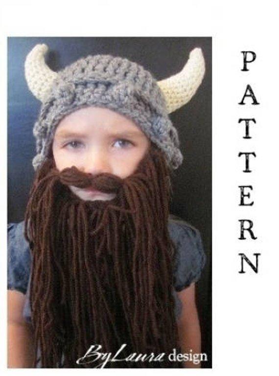 PATTERN- Kids Viking Hat and Beard  5f4c4b96bc3