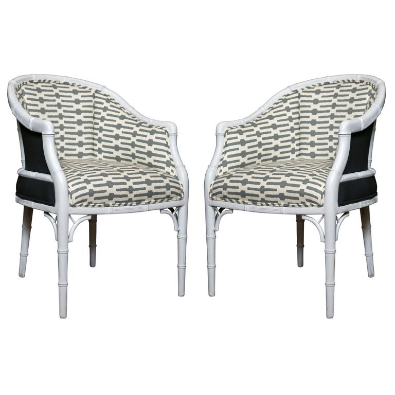 Pair Of Faux Bamboo Pull Up Chairs 1stdibs Com Armchair