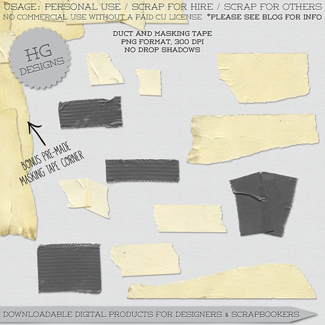 Hg Designs Masking Tape Duct Duct Tape