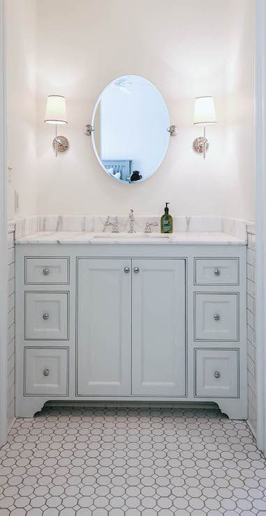 Modern Gray Blue Bathroom Vanity
