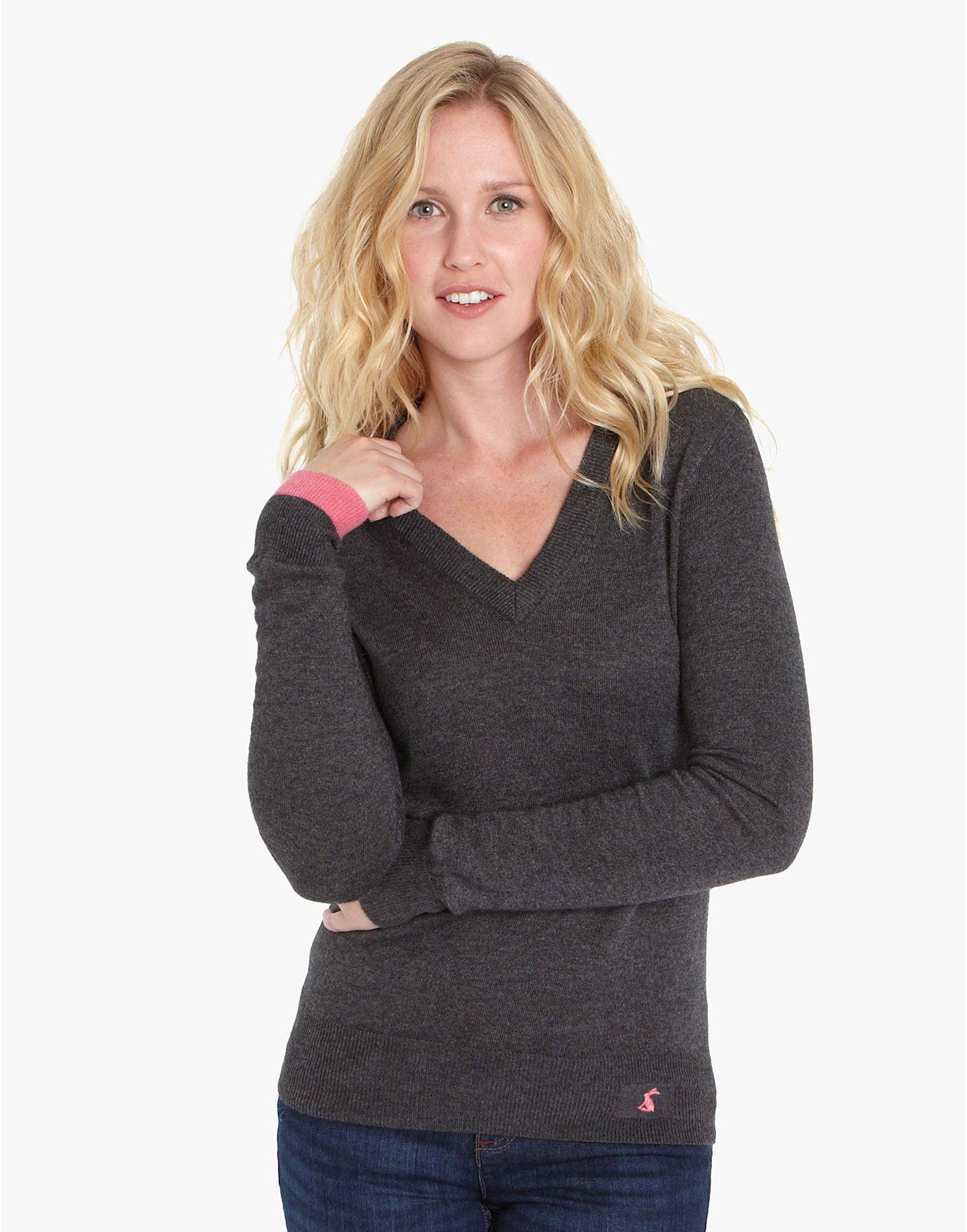 TATUM Womens Super Soft Knitted V-neck Jumper