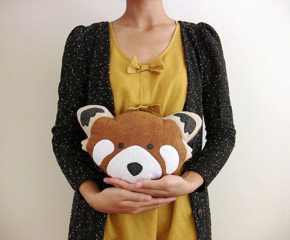 Handmade Plush Red Panda Doll  Stuffed Animal Plush by FawnandSea, $27.00