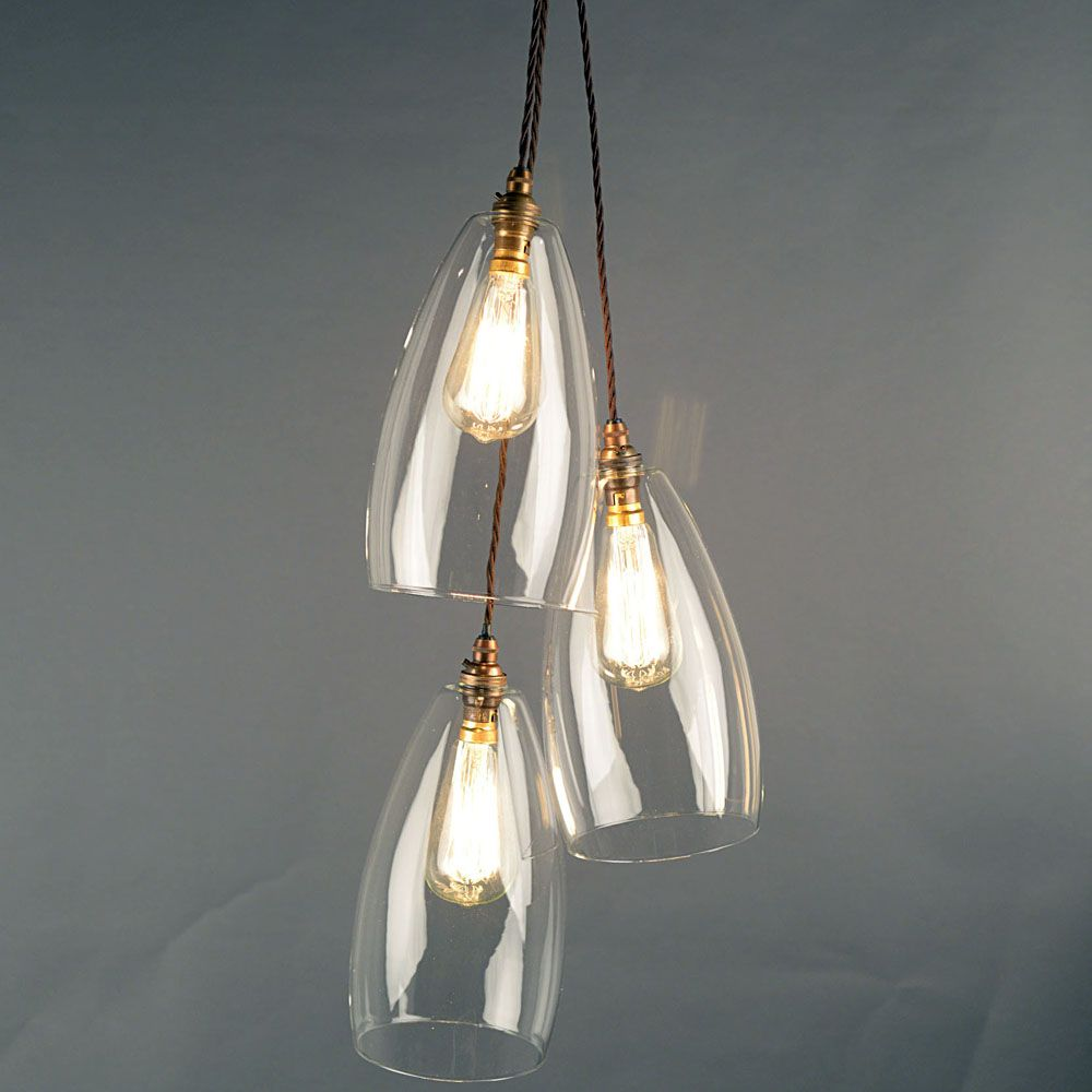 kitchen pendant lighting uk. Pretth Cluster Of Upton Clear Glass Pendant Lights. These Lovely Modern Shades Are Handblown In The UK. Kitchen Lighting Uk P