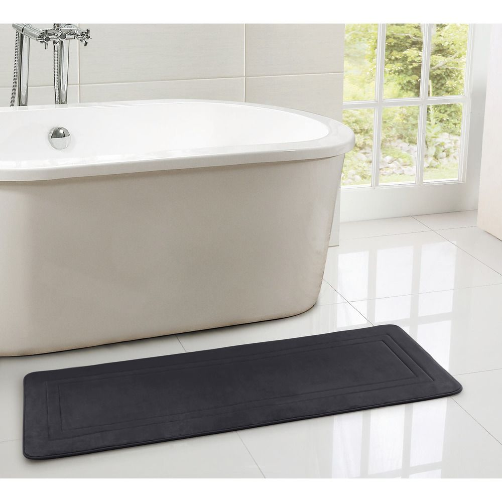 24 X 60 Memory Foam Bath Runner Rug Medieval Blue Home Bath