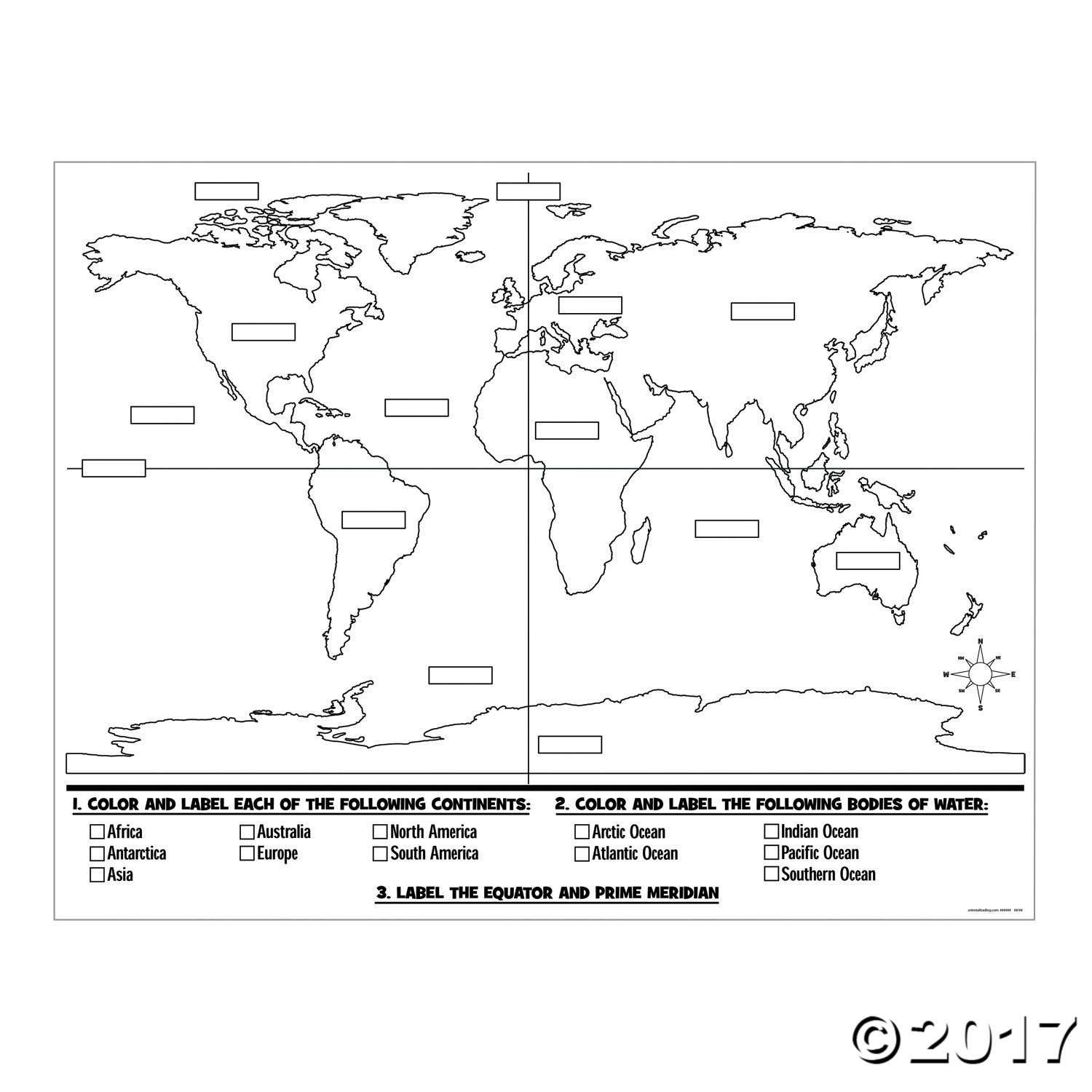 Our Color Your Own World Map Posters Are Wonderful