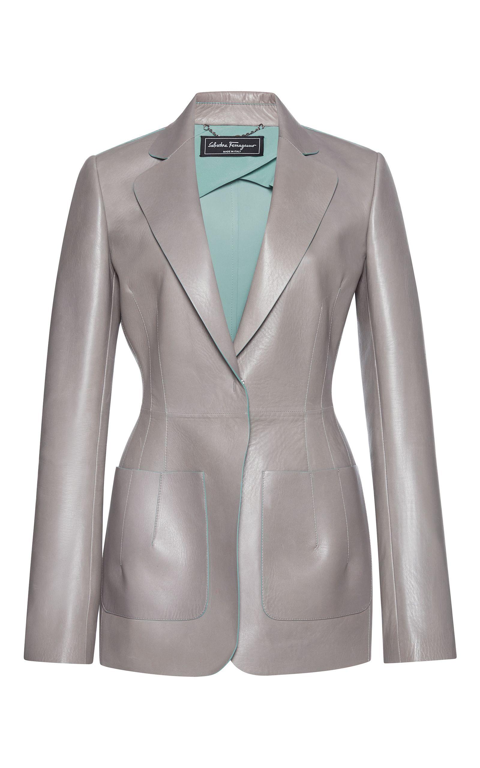 Feragamo Leather Blazer  €2.748, napa leather,