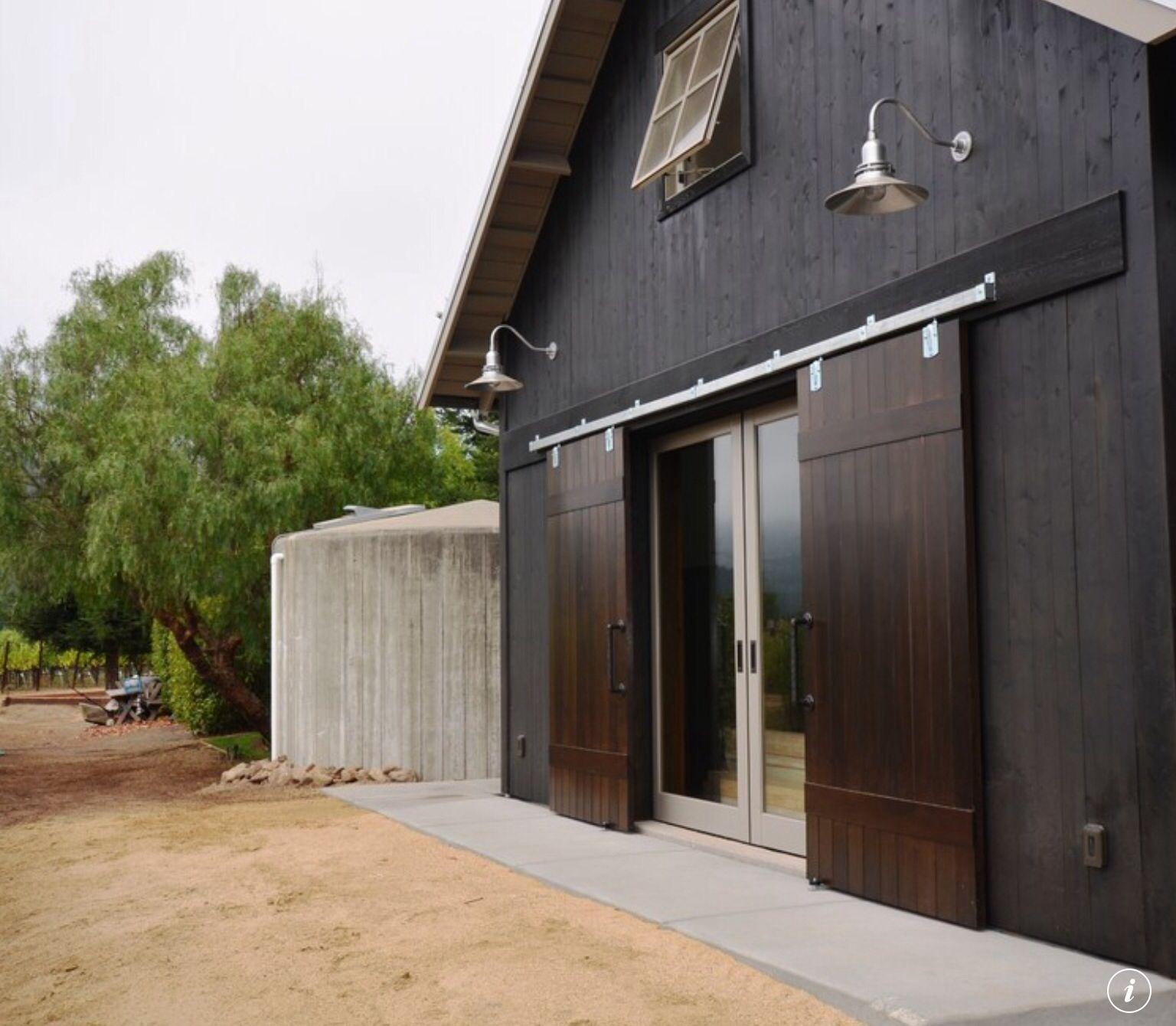 Black Barn Glass Doors Exterior Sliding Barn Doors Exterior Barn Doors Modern Barn House