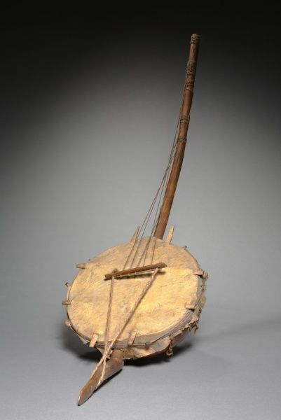 Musical Instrument, before 1918 Africa, 20th century wood, Diameter - w:32.40 cm (w:12 3/4 inches) Overall - l:111.80 cm (l:44 inches).