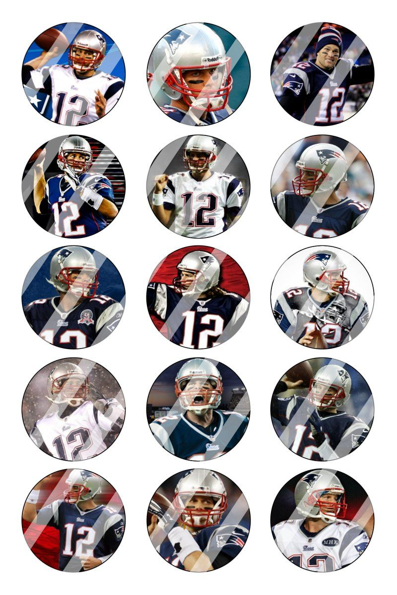 """New England Patriots Tom Brady Bottle Cap 1"""" Circle Images #2 (instant download or pre cut)"""