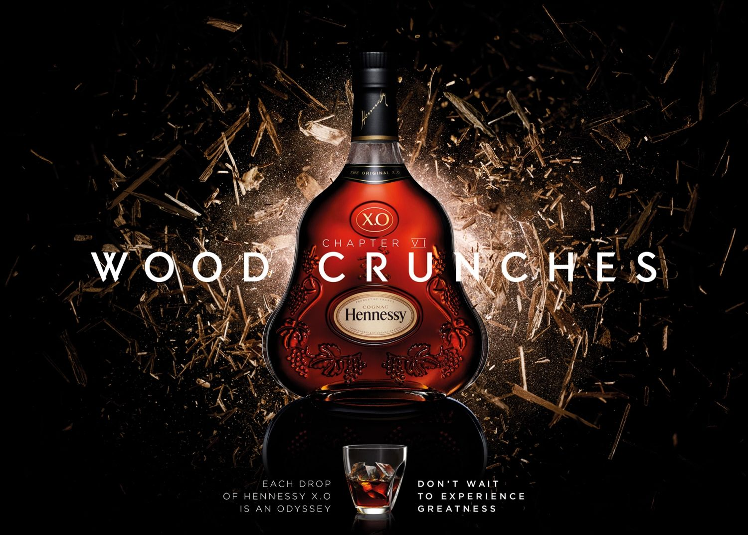 Hennessy Tries To Capture The 7 Flavor Notes Of Its X O Cognac In Visuals And Sound Hennessy Hennessy Xo Alcoholic Drinks