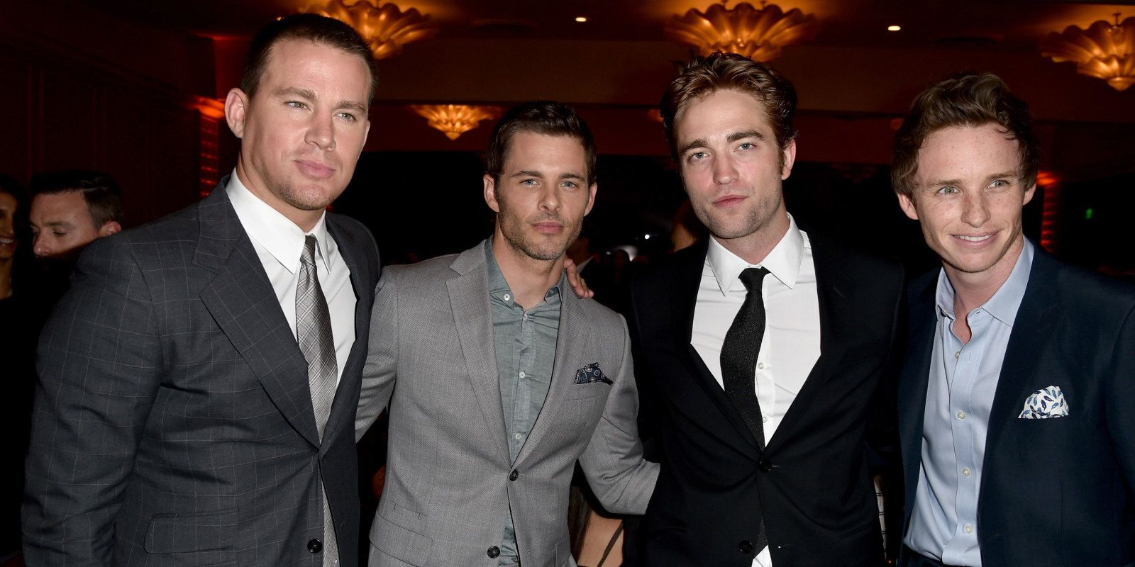 Four of my favorite guys in one place?  At the same time?  These are the things dreams are made of...  Channing Tatum, James Marsden, Robert Pattinson & Eddie Redmayne... Holey Moley!!!!!!! <3