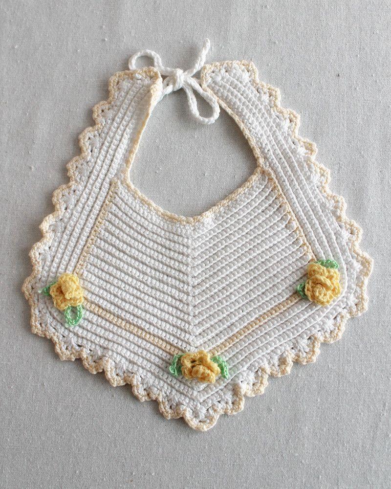 Vintage Bibs & Booties Crochet Pattern | Bebe, Bebé y Tejido