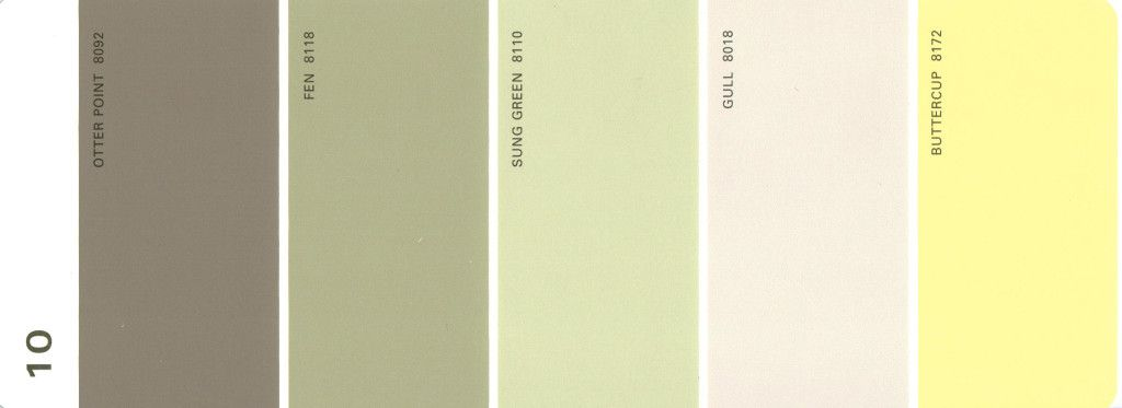Martha Stewart Paint 5-Color Palette Card #10 Martha stewart - chart samples