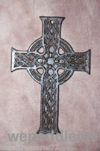 CELTIC CROSS WALL DECOR, CELTIC CAST IRON CROSS (C) 31 | Wall ...
