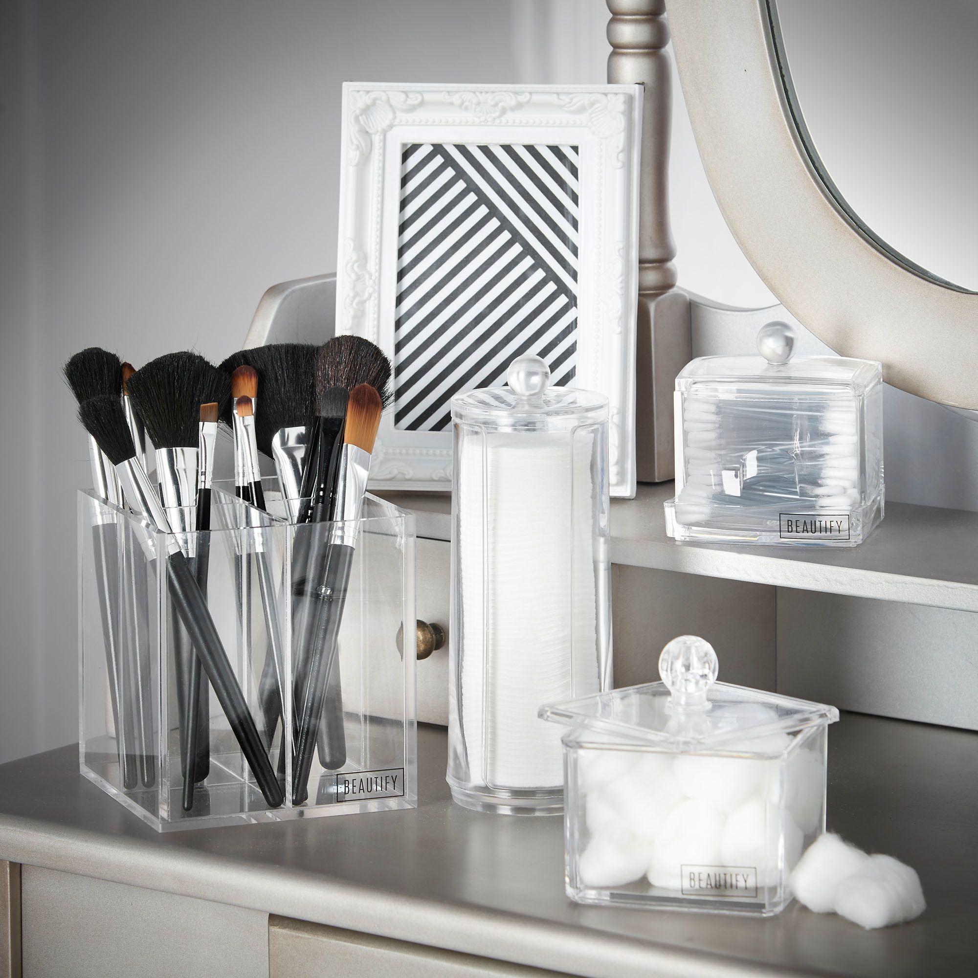Lipstick bathroom set - 4 Piece Bathroom Storage Organizer Set