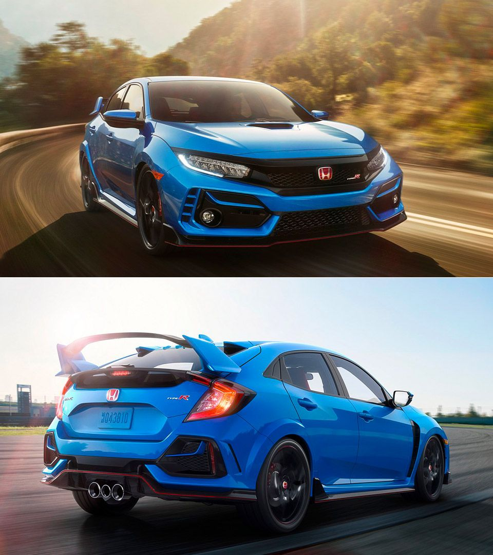 2020 Honda Civic Type Debuts In New Boost Blue Color Honda Civic Type R Honda Civic Honda
