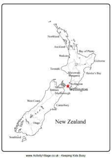 photograph about New Zealand Map Printable titled Clean Zealand Printables for Small children Australia pal split