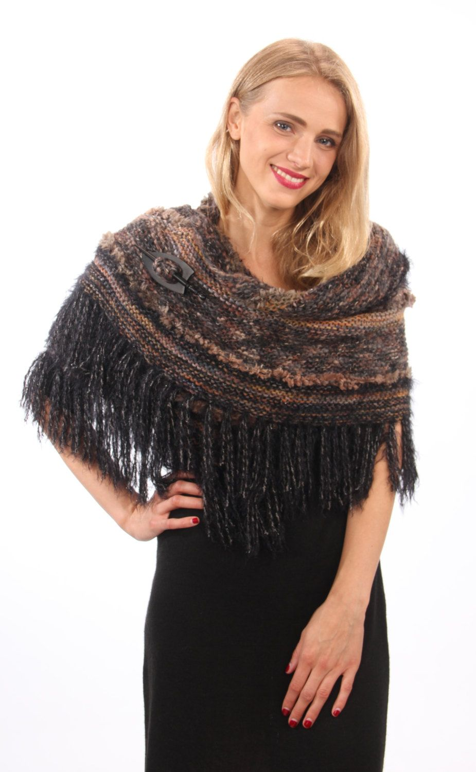 Photo of Hand knitted shoulder cape ,cape for small evening dress, accessory from art mohair is ready to ship