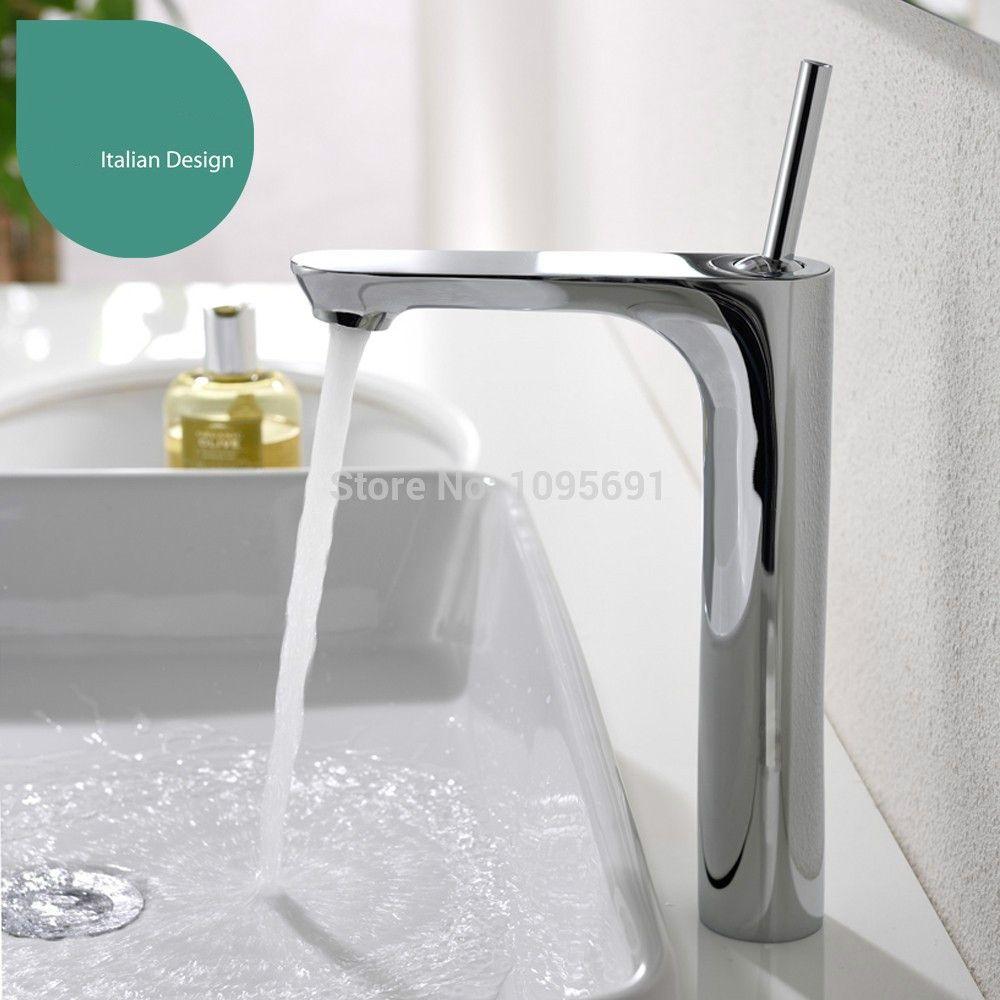 Solid brass Bathroom Sink Vessel Faucet Basin Mixer Tap,chrome ...