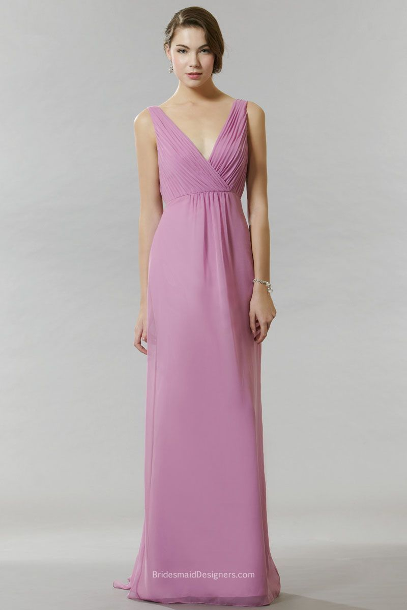 A look and feel that your bridesmaids will love, this long and flowy ...
