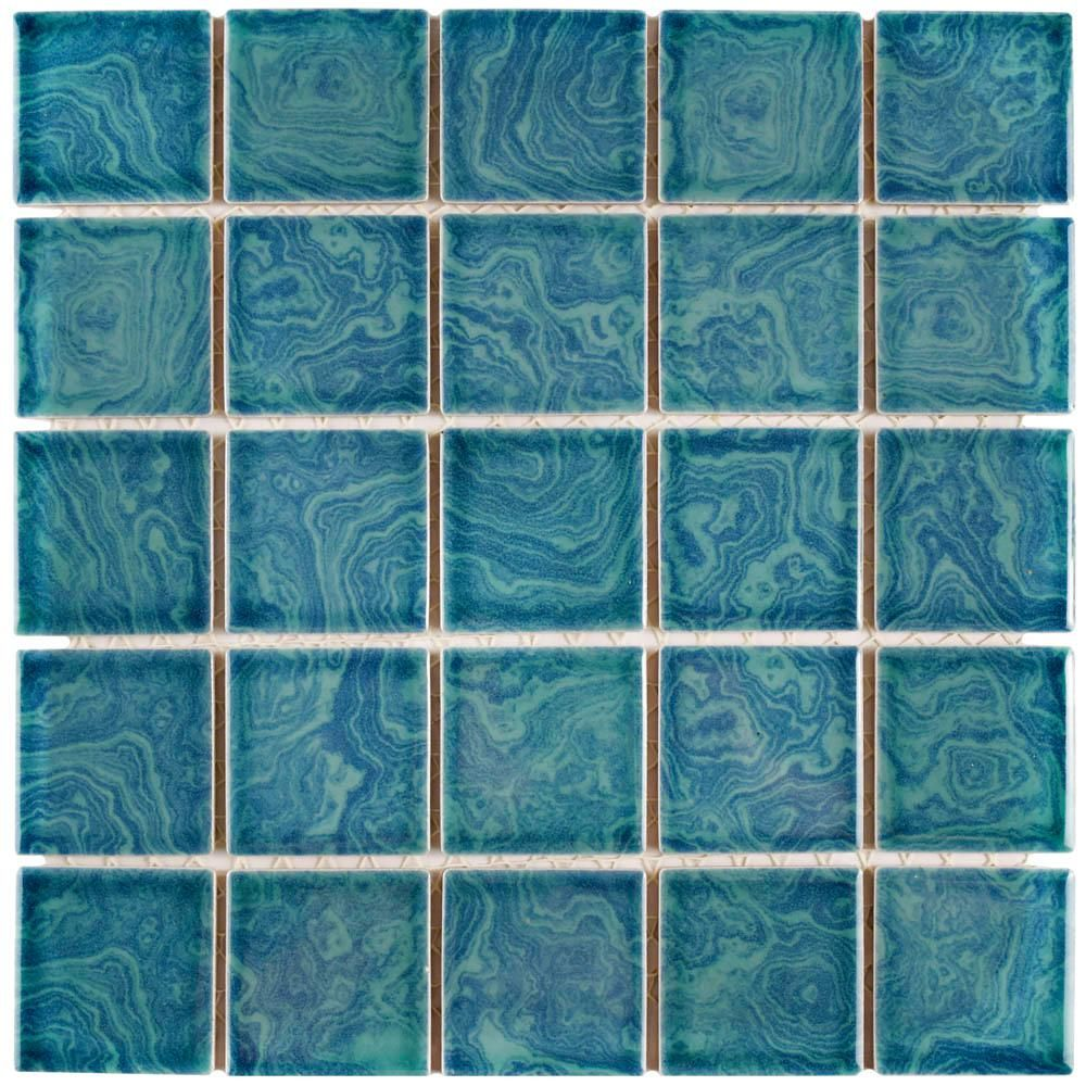 Merola Tile Resort Palm Green 12 in. x 12 in. x 5 mm Porcelain ...