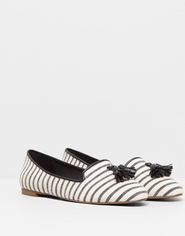 Pull&Bear Check slingback shoe in IWN8GxRlk