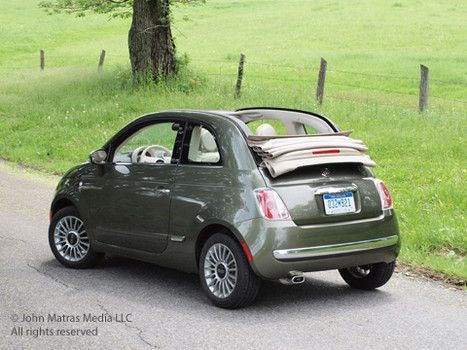 olive green convertible fiat