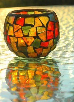glass fall autumn colors