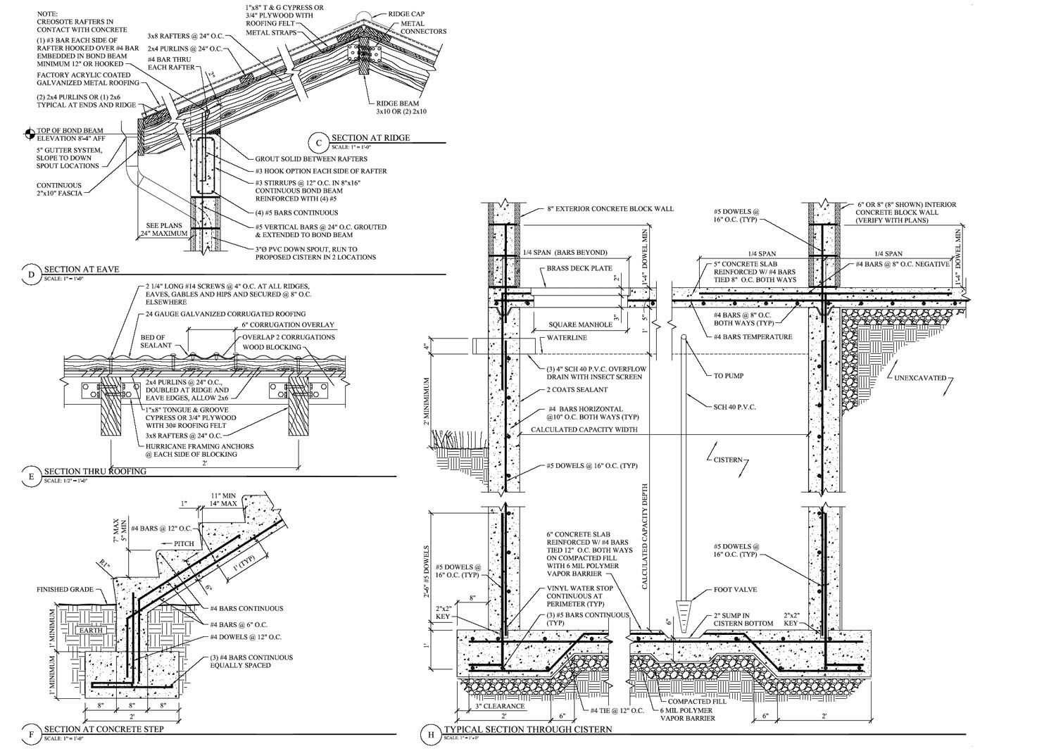 Section Drawings Including Details Examples Wall Section
