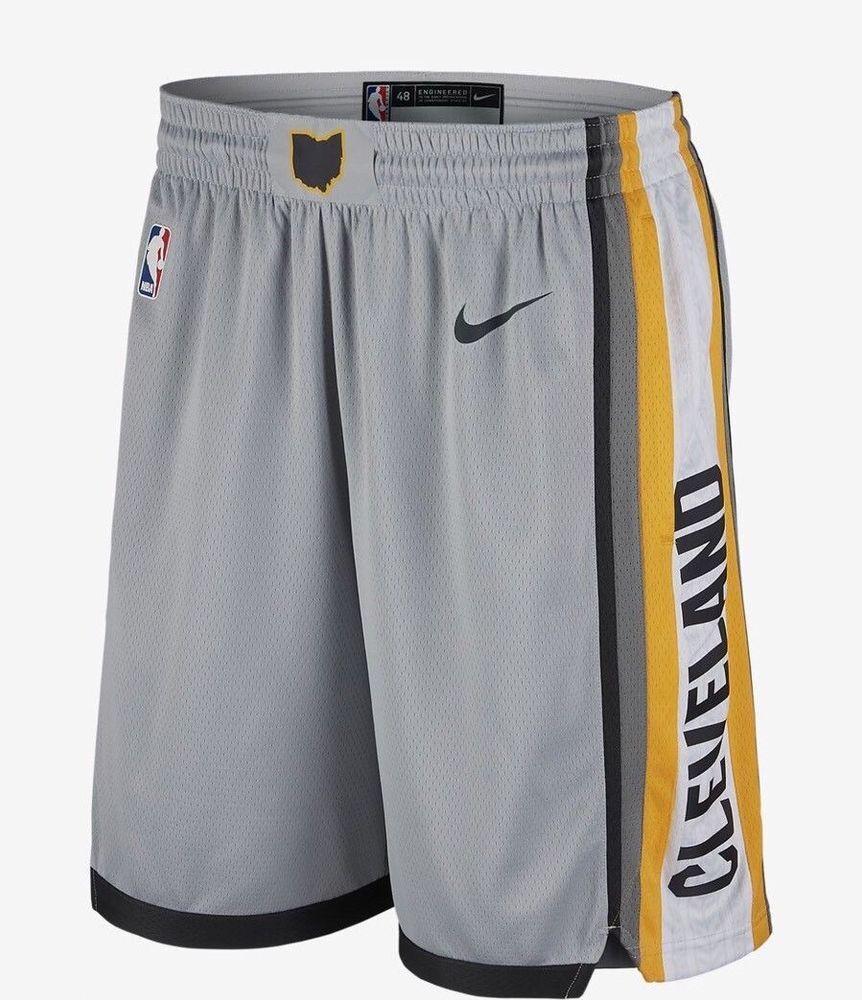 4cb131b4a1b Nike NBA Cleveland Cavaliers City Edition Swingman Shorts Mens Flat Silver  Grey  Nike
