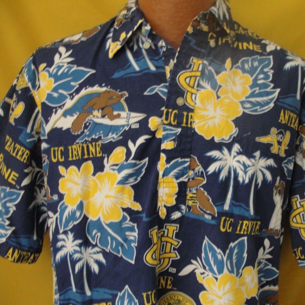 Reyn Spooner UCI UC Irvine Pullover Hawaiian Shirt :arge Anteaters ...