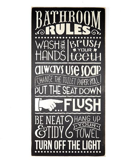 Saras Signs Bathroom Rules Wall Sign | zulily