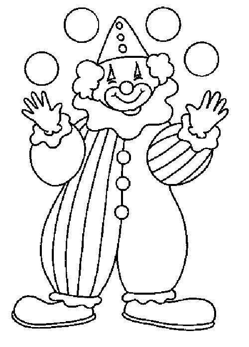 Pin By Freida Sabbagh On Purim Circus Clown Coloring Pages