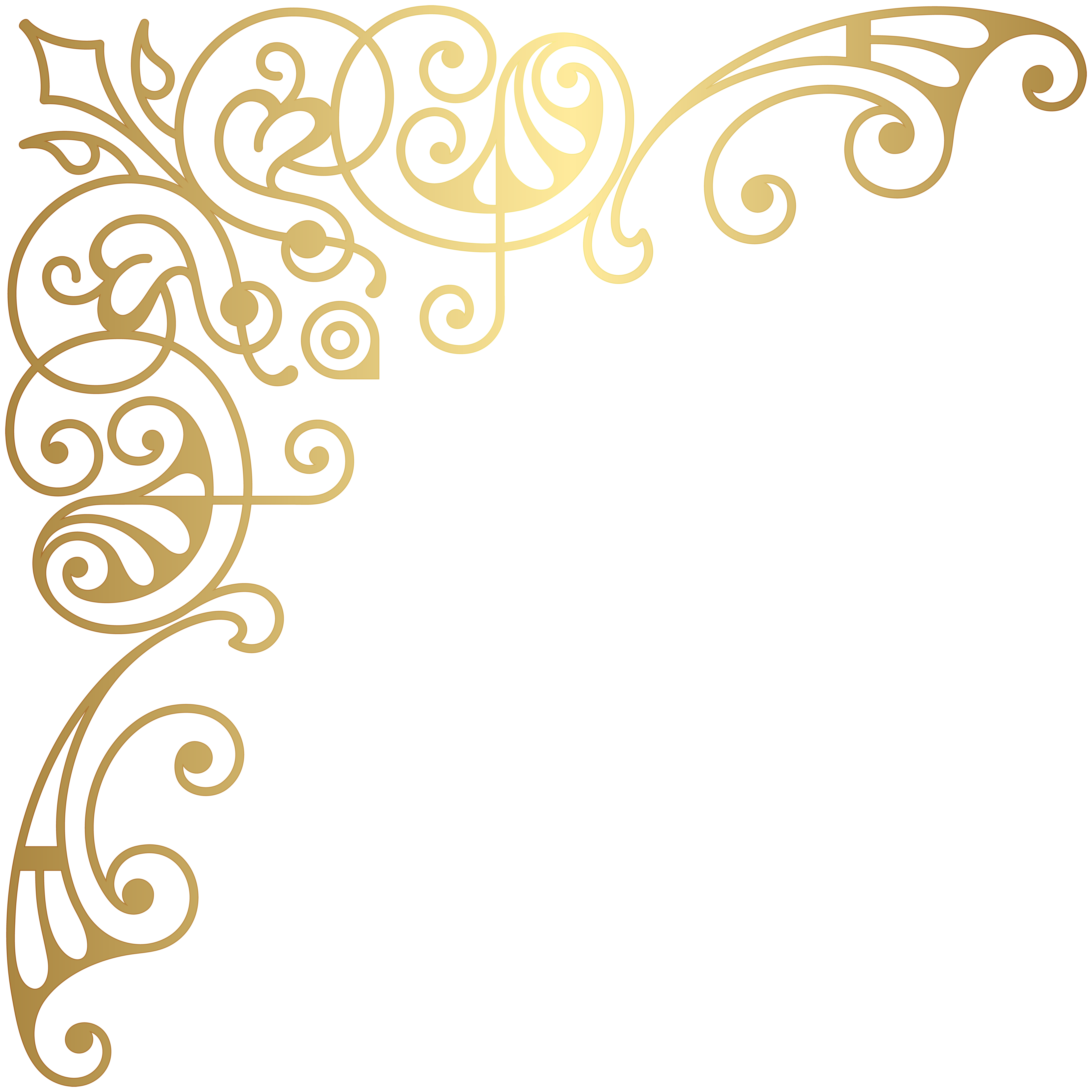 Gold Corner Decorative Transparent Png Clip Art Gallery Yopriceville High Quality Images And Transparent Png Fre Gold Border Design Clip Art Free Clip Art