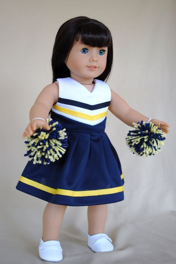 Navy Blue and Yellow Cheerleader/Cheer Dress for American Girl/18 inch doll #18inchcheerleaderclothes Navy and Yellow Cheerleader Dress for by IfDollsCouldDream on Etsy, $18.00 #18inchcheerleaderclothes Navy Blue and Yellow Cheerleader/Cheer Dress for American Girl/18 inch doll #18inchcheerleaderclothes Navy and Yellow Cheerleader Dress for by IfDollsCouldDream on Etsy, $18.00 #18inchcheerleaderclothes Navy Blue and Yellow Cheerleader/Cheer Dress for American Girl/18 inch doll #18inchcheerleader #18inchcheerleaderclothes