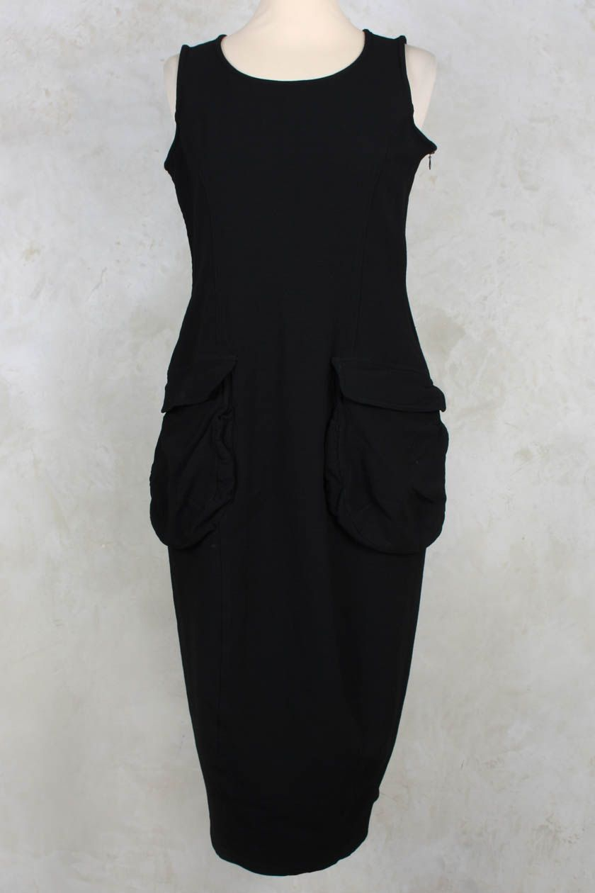 Tight dress with two pockets in black rundholz mainline rundholz