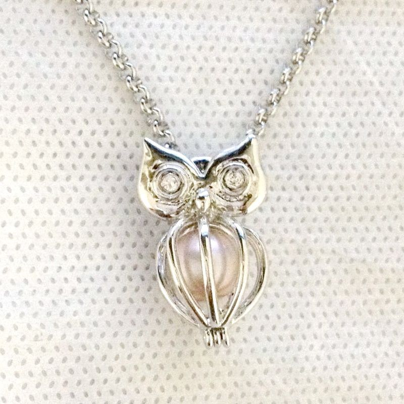 Find more pendants information about 925 silver owl locket cage can find more pendants information about 925 silver owl locket cage can open pearl gem beads aloadofball Image collections