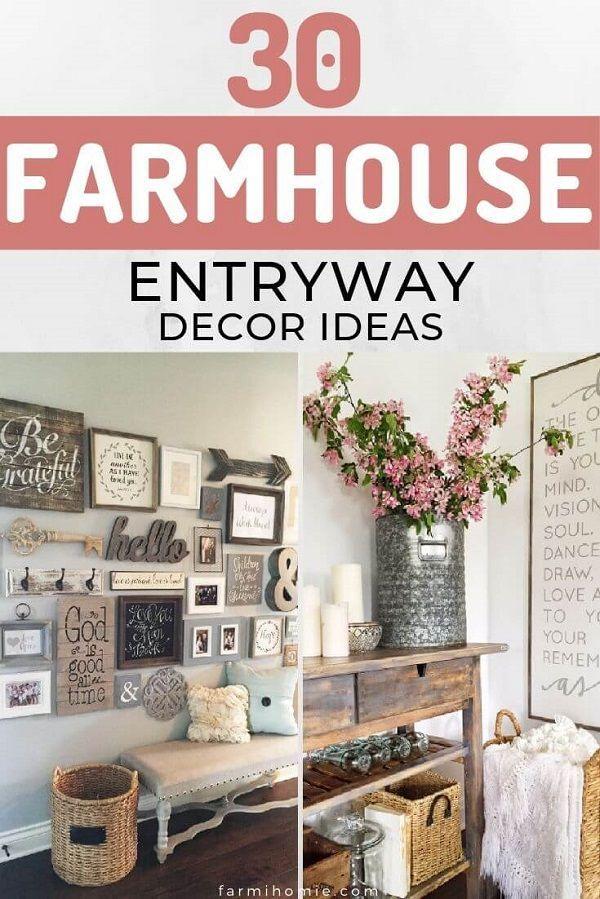 30 Farmhouse Entryway Decor Ideas To Choose for your house. #entryway #diy #homedecor #ideas #farmhouse #decor